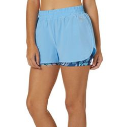 Juniors Hawaiian Hibisbus Stowaway Shorts