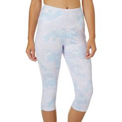 Reel Legends Juniors Keep It Cool Camo Mesh Print Leggings