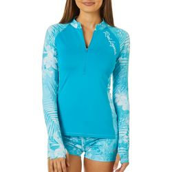 Reel Legends Juniors Tropical Floral Long Sleeve Top