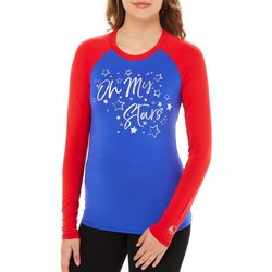Reel Legends Juniors Keep It Cool Colorblock Oh My Stars Top