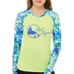 Reel Legends Juniors Circa Energy Long Sleeve Swim Shirt