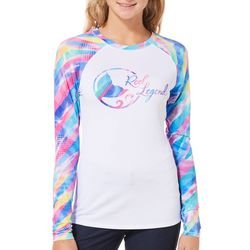 Reel Legends Juniors Keep It Cool Unicorn Print Logo Top