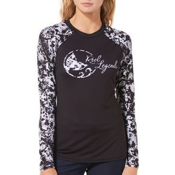 Reel Legends Juniors Keep It Cool Splatter Print Logo Top