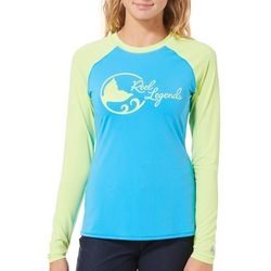 Reel Legends Juniors Keep It Cool Logo Long Sleeve Top
