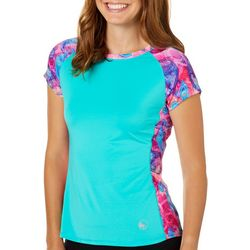 Juniors Keep It Cool Ombre Paisley Panel Top