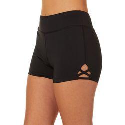 Reel Legends Juniors Keep It Cool Solid Lattice Hem Shorts