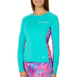 Juniors Keep It Cool Colorblock Paisley Top