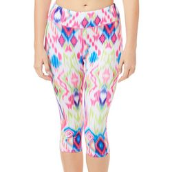 Reel Legends Juniors Keep It Cool Glitchy Ikat Capris