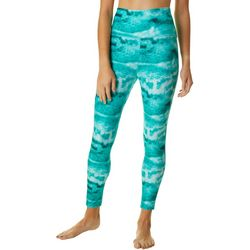 Juniors Icy Grouper Graphic Print Ankle Leggings