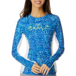 Loco Skailz Juniors Logo Whale Shark Skin Long Sleeve Top