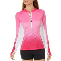 Juniors Ombre Scale Print Long Sleeve Top