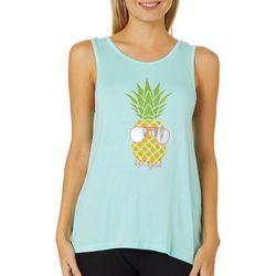 Reel Legends Juniors Pineapple Crochet Back Tank Top