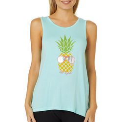 Reel Legends Juniors Pineapple Crochet Back Tank Top