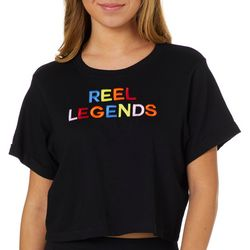 Reel Legends Juniors Embroidered Cropped T-Shirt