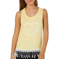 Reel Legends Juniors Love Coastal Heart Tank Top