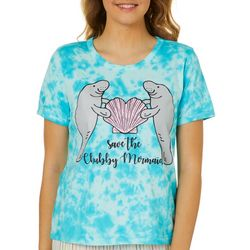 Chubby Mermaids Juniors Tie Dye T-Shirt