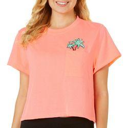 Reel Legends Juniors Cropped Tropical Scene T-Shirt