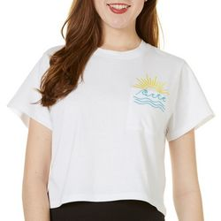 Reel Legends Juniors Cropped Embroidered Pocket T-Shirt