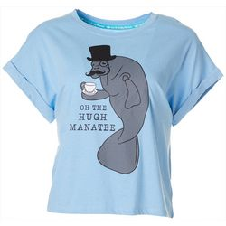 Chubby Mermaids Juniors Oh The Hugh Manatee T-Shirt