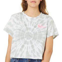 Reel Legends Juniors Cropped Tie Dye Burst T-Shirt