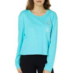 Reel Legends Juniors Cropped Ahoy Honey Top