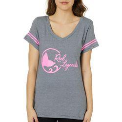 Reel Legends Juniors Striped Logo T-Shirt