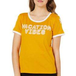Reel Legends Juniors Cropped Vacation Vibes T-Shirt