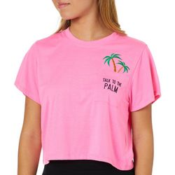 Reel Legends Juniors Cropped Talk To The Palm T-Shirt