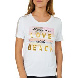 Reel Legends Juniors All You Need Is Love And Beach T-Shirt