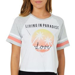 Reel Legends Juniors Cropped Living In Paradise T-Shirt