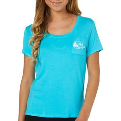 Reel Legends Juniors Crisscross Back Pocket T-Shirt