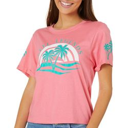 Reel Legends Juniors Palm Tree Sunset Logo T-Shirt