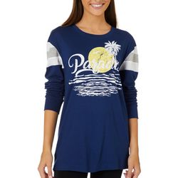 Reel Legends Juniors Colorblock Paradise Sunset T-Shirt