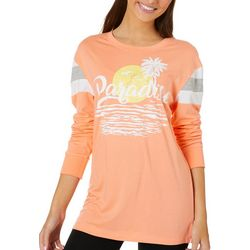 Reel Legends Juniors Colorblock Paradise Sunset T-Shirt