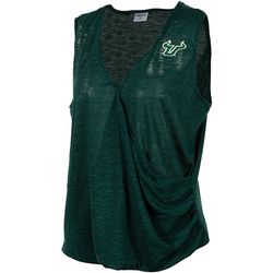 USF Bulls Juniors Surplice Logo T-Shirt By Zoozatz