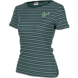 USF Bulls Juniors Ribbed Stripe Logo T-Shirt By Zoozatz