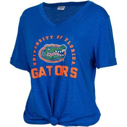 Florida Gators Juniors UF Logo Knot Front T-Shirt By Zoozatz