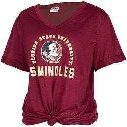 Florida State Juniors FSU Logo Knot Front T-Shirt By Zoozatz