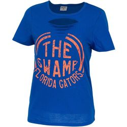 Florida Gators Juniors The Swamp Cut Out T-Shirt By Zoozatz