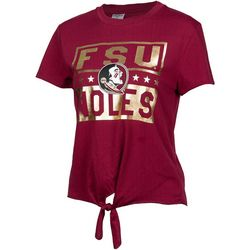 Florida State Juniors Noles Tie Front T-Shirt By Zoozatz