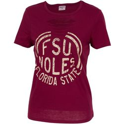 Florida State Juniors Lattice Cut Out T-Shirt By Zoozatz