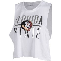 Florida State Juniors Cropped Logo T-Shirt By Zoozatz