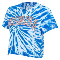 Florida Gators Juniors Tie Dye Cropped T-Shirt by Zoozats
