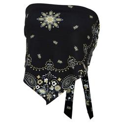 Juniors Bandana Print Bandeau Top by Zoozats
