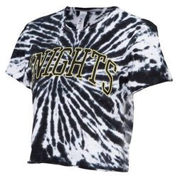 UCF Knights Juniors Tie Dye Cropped T-Shirt by Zoozats