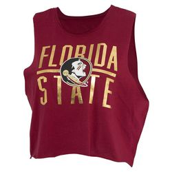 Florida State Juniors Foil Logo Cropped T-Shirt by Zoozats