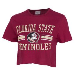 Florida State Juniors Logo Cropped T-Shirt by Zoozats