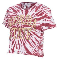 Juniors Tie Dye Cropped T-Shirt by Zoozats