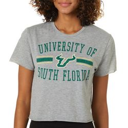 USF Bulls Juniors Cropped Logo T-Shirt By Zoozatz