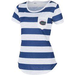 Florida Gators Juniors Striped Pocket T-Shirt By Zoozatz